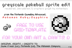 Pokemon Greyscale Pokeball Sprite Crafters Grid by nintentofu
