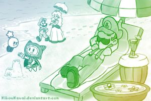 Luigi on the beach by CutyAries