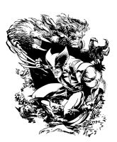 Wolverine and Beast - Marvel by bmbtheartman