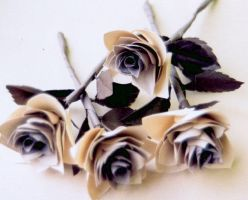 paper roses by Yohan-2014