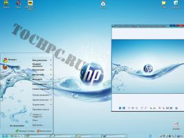 theme ' HP water ' for XP by tochpcru