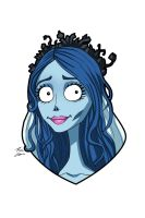 Emily The Corpse Bride commission by phil-cho