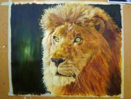 Lion Oil Painting by loaded88