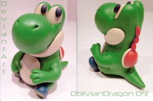 Yoshi Sculpture by Gold-Buster