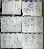 204 - 220 (1000 gesture drawing challenge) by anime-master-96