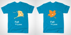 Fall in Love, T-shirts by temperolife