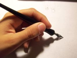 Hand and Nib Pen Stock 2 by austringer