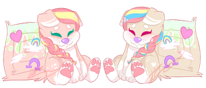 Marshmallow Twins by JessiiRoo