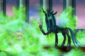 Queen Chrysalis - Imprisonment by Rose-Beuty