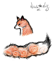 Okami-style Fox sketch by Self-Eff4cing