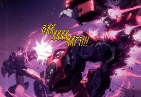Optimus Shattered Glass tirant sur Cliffjumper by RadimusSG