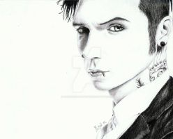 Andy Biersack by aDrawingAboutLife
