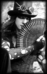 mysterious steampunk / goth lady by mistabys