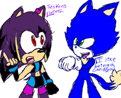 Breed Swap: Sonic and Ariauna by 1XxAcexX1
