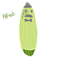 Alfred the condom covered cucumber by Smokeybred