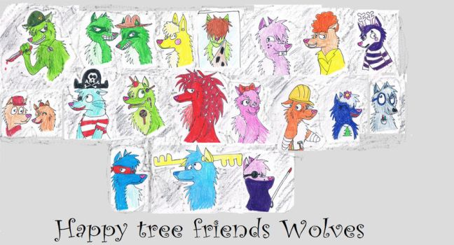 Happy tree friends wolves by CarnageWolff