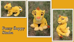 Fuzzy Floppy Simba by Laurel-Lion