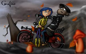 Coraline and Wybie by Kroizat
