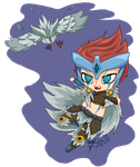 [League Of Legends] Quinn Demacia's Wings by Tsiki10