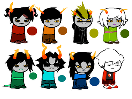 Homestuck Troll Adoptables (Plus One Kid!) by SarcasticGiraffe