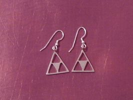 Triforce Earrings by akuriko