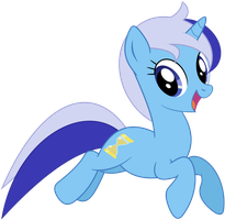 Minuette jumping as seen in 'Amending Fences' by bluemeganium
