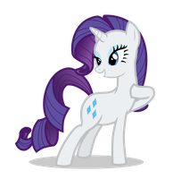 First vector with Rarity by Aethersly