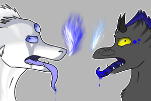 derpy fire-breathing-acid-spit-dripping dragons by thedoomedkitteh