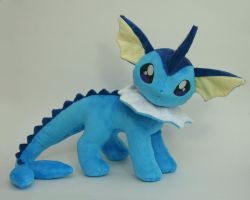 Vaporeon Plush by Yukamina-Plushies