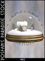 Snowglobe 002 Winter Scene by poserfan-stock