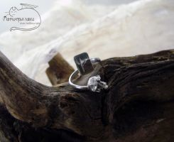 Wunjo silver ring by Rolary