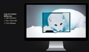 Log on screen Red and White fox by poweredbyostx