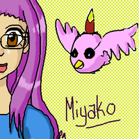 WR: Miyako and Poromon by Miss-Mae