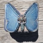 Leather Butterfly Cuff by Beadmask