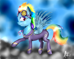 Rainbow Dash / Shadowbolt by lRivaLzl