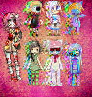 Creepy Doll ADOPTABLES by MoggieDelight