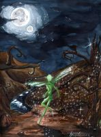 Green faerie at night 2004 by htx