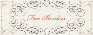 Free Calligraphy Borders Brushes and PS Shapes by starsunflowerstudio
