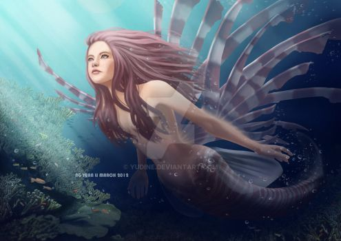 Lionfish Mermaid by Yudine