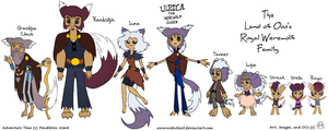 Adventure Time fanart- Ooo's Royal Werewolf Family by midniteoil
