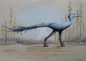 Blue Crane inspired Troodon by Polihierax