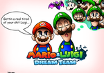 Mario and Luigi Dream Team by SonicKnight007