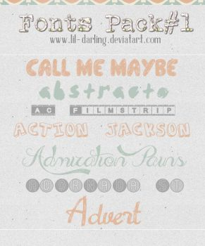 Fonts Pack#1 by Lil-darling