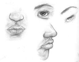 Face study assignment by Pamcakeghostylubsyoo