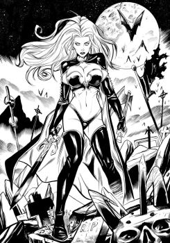 Lady Death Tribute - INKS by xavor85
