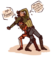 Spacedad and spaceson shenanigans by arrival-layne