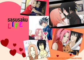 sasusaku life wallpaper by sakuryxime