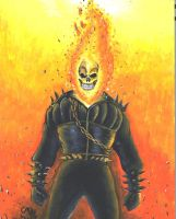 Johnny Blaze Ghost Rider by atrafeathers