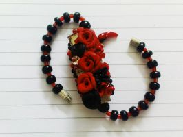 Red and Black Bracelet- My Little Scorpion by nimraaijaz