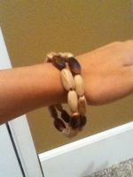 Pine Nut Bracelet on rist by TheNewCoyote